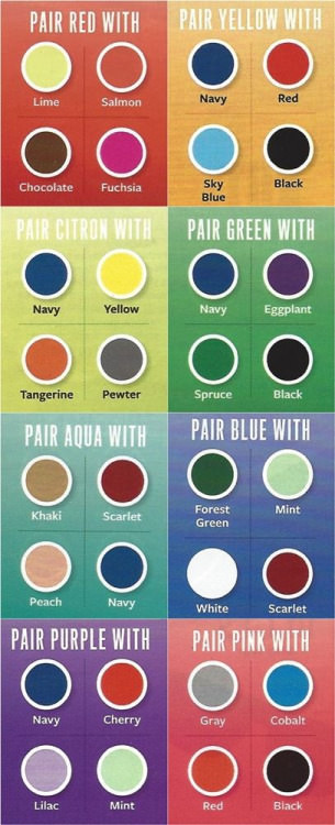 colours theory, color combination guide