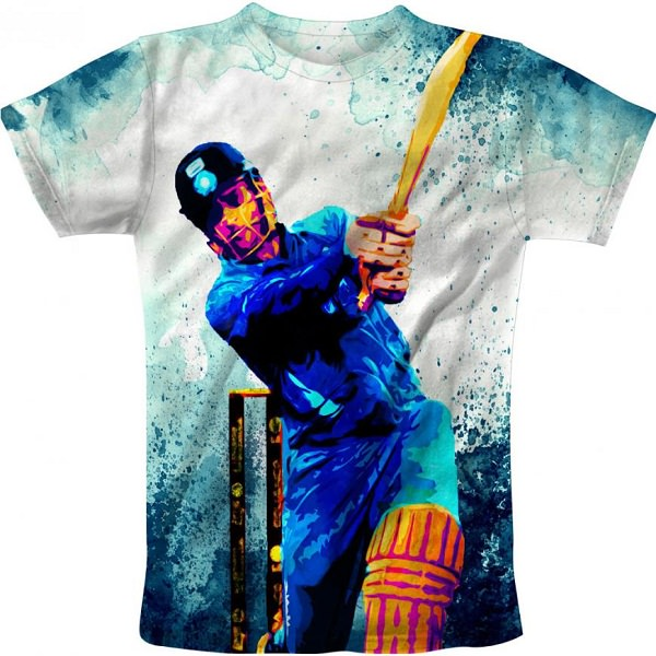 Cricket India Team Multicolour Dhoni cricket t-shirt