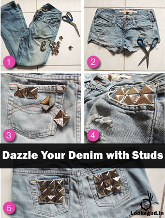dazzle your denim with studs