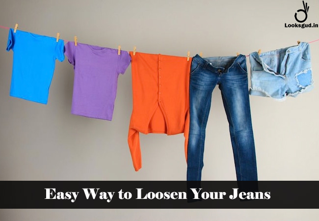 easy way to loosen your jeans