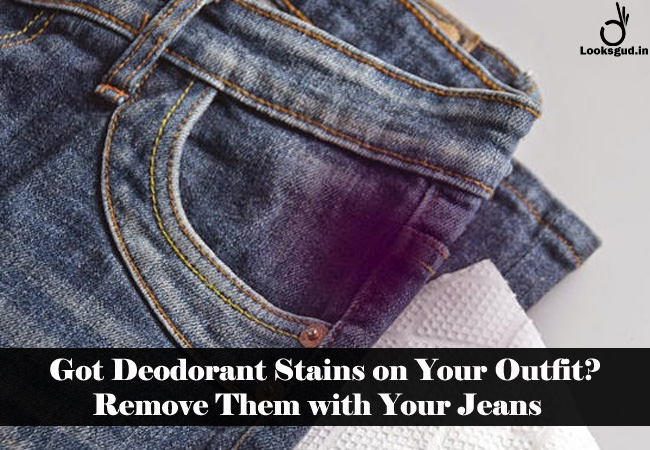 get rid of deodorant stains with jeans