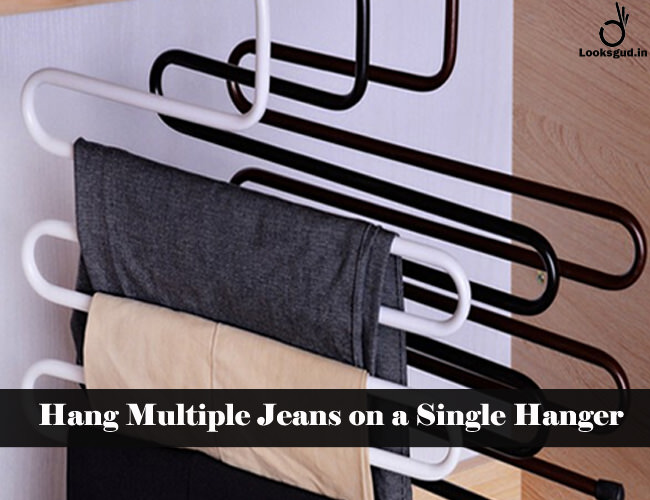 hang multiple jeans on single hanger