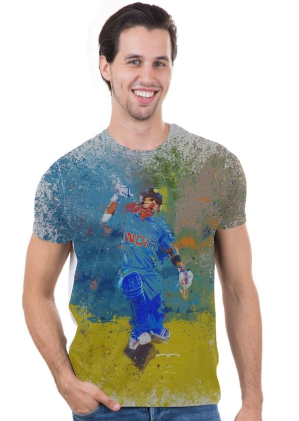 Indian Cricket team fan graphic printed t-shirt