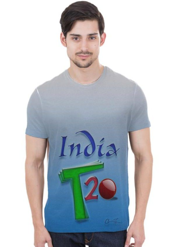 custom cricket printed t shirts online shopping