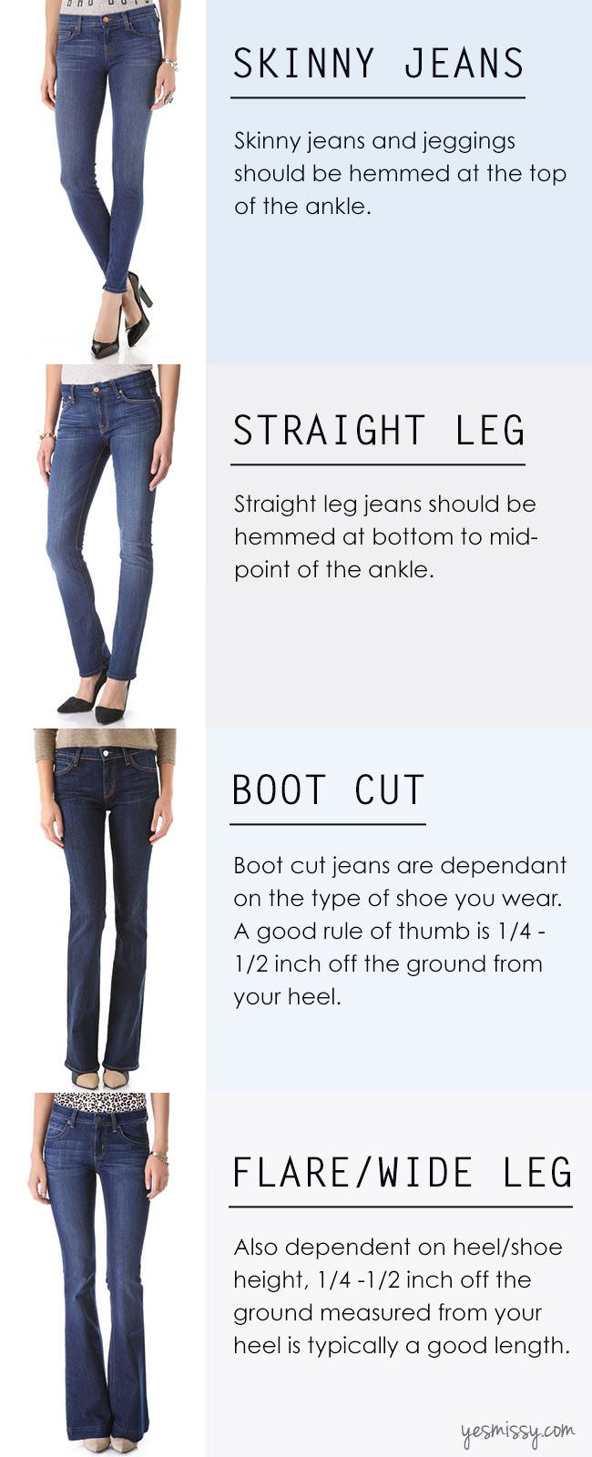 jeans for different body types