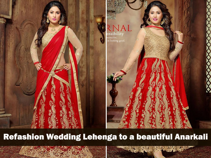 99bd55f63e A new way to reuse wedding lehenga dress: convert refashion wedding lehenga  to a beautiful