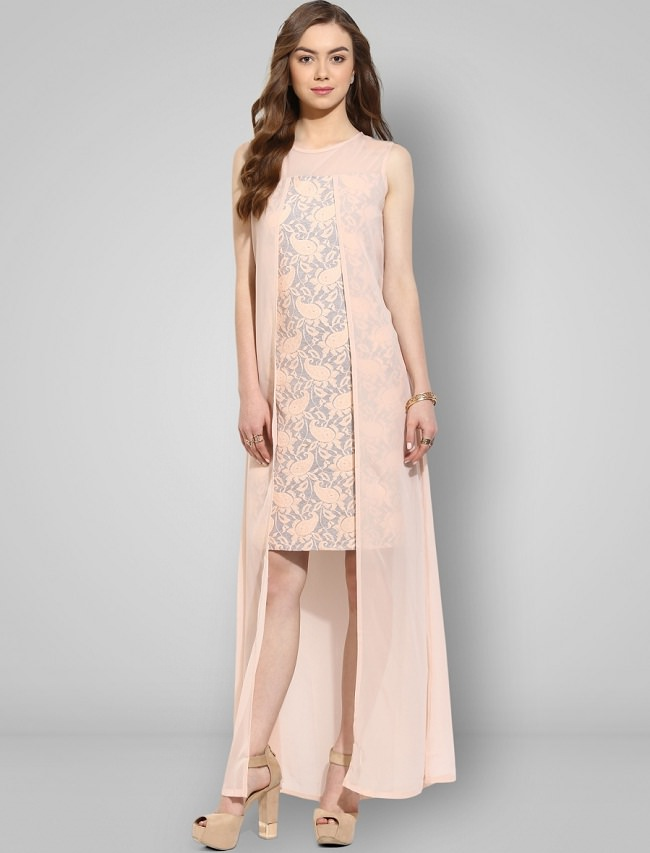 peach layered dress, different types of dresses in the world
