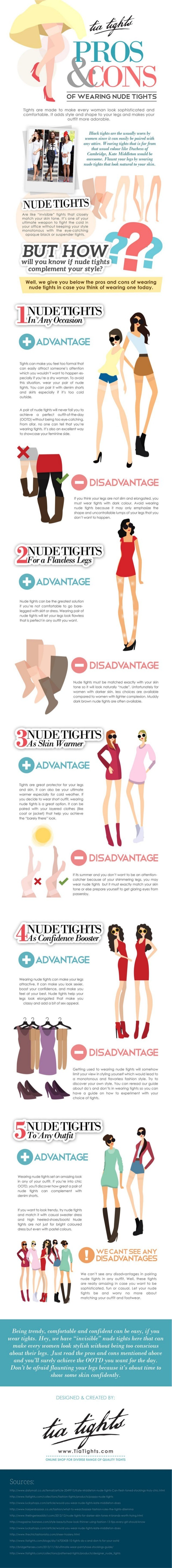 pros and cons of wearing nude tights