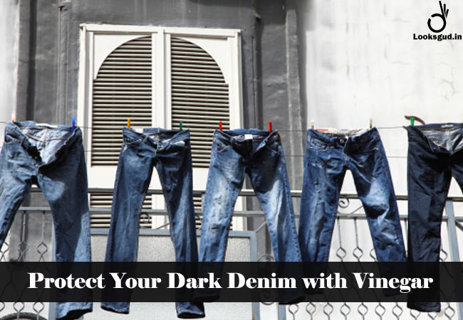 protect your dark denim with vinegar