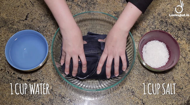 salt water save your jeans from bleeding