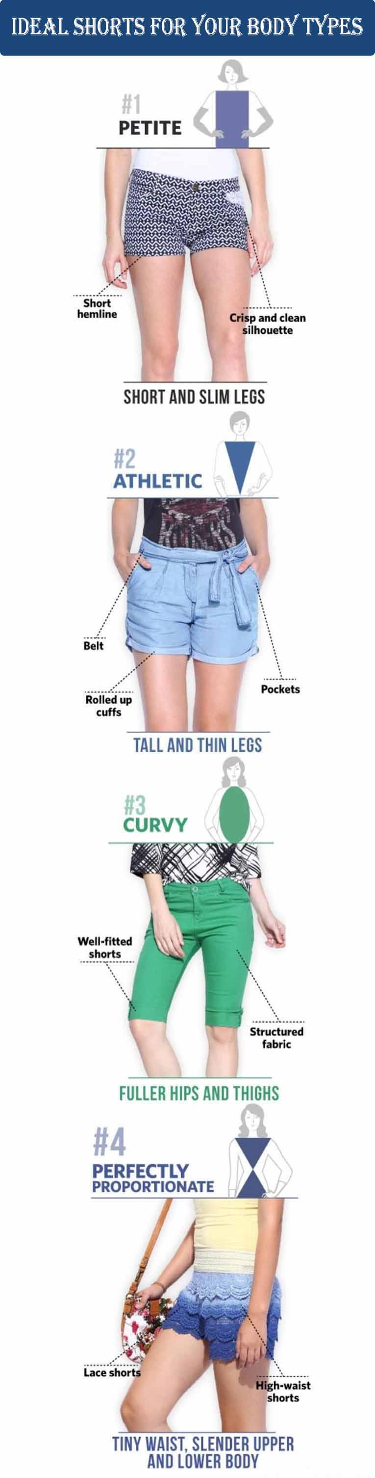 shorts for body types, ideal shorts for your body type