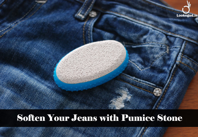 soften your jeans with pumice stone