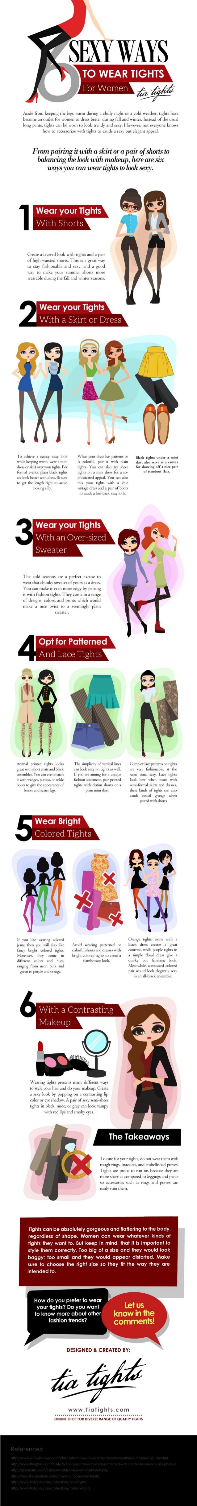 ways to wear tights for women