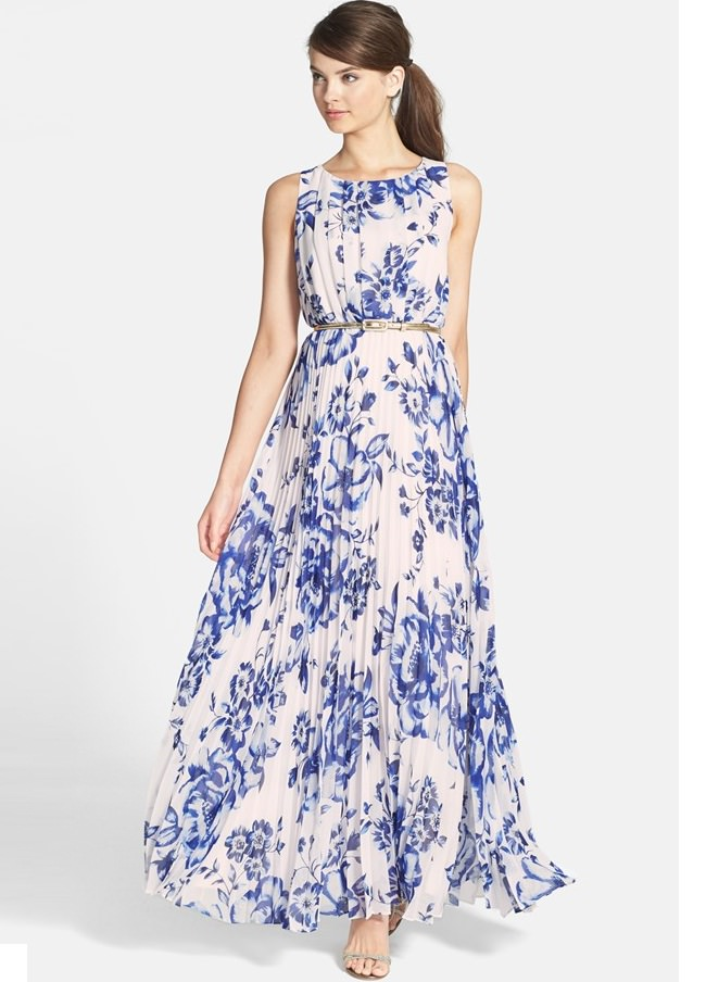white floral printed belted maxi dress, maternity dresses india