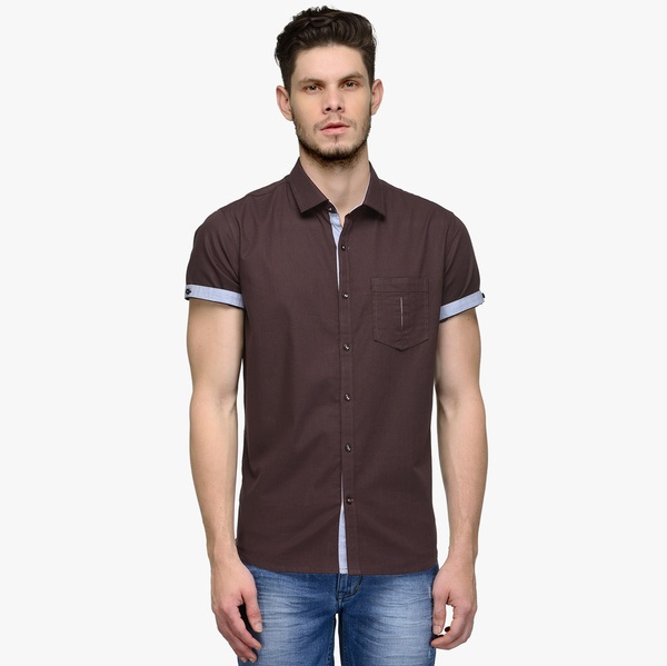 canary-london-coffee-solid-slim-fit-casual-shirt