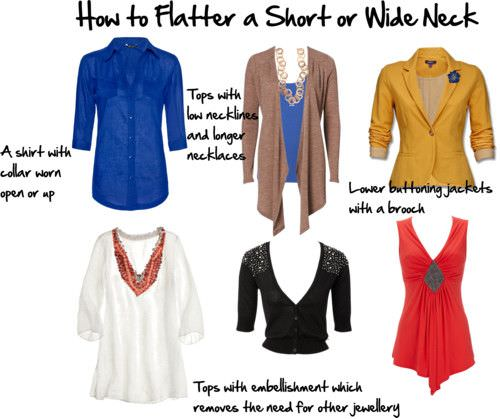 flatter short wide neck