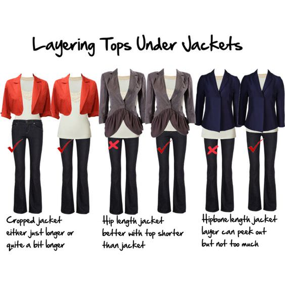 layering tops under jackets