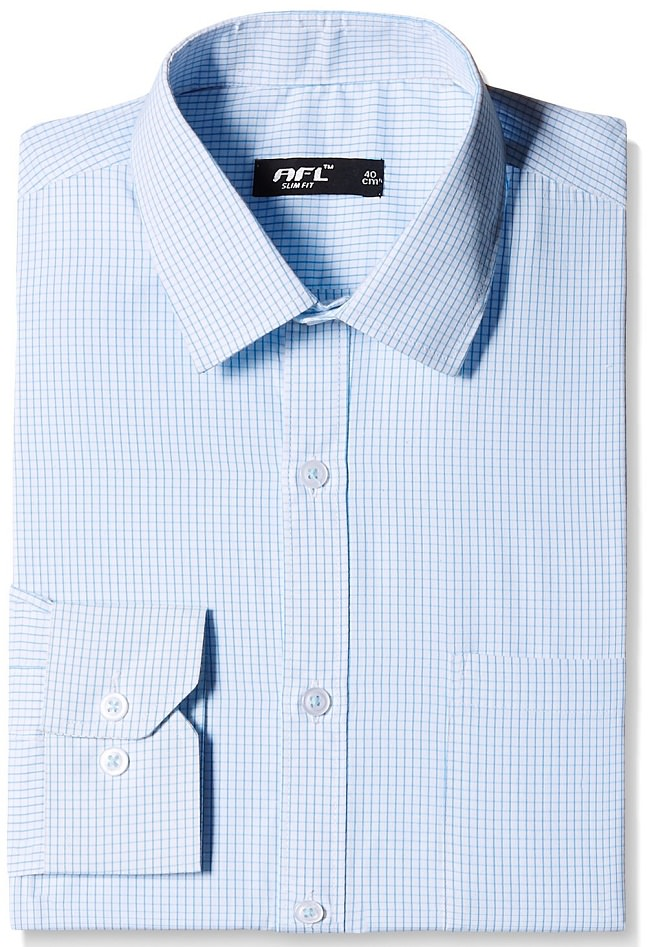 light blue checked formal shirt