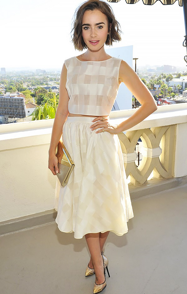 crop top with midi skirt