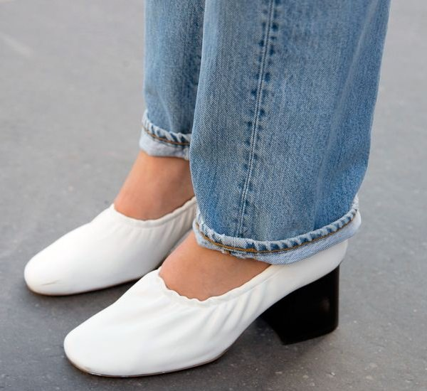 PARIS, FRANCE - MARCH 06: Glamour magazine director Natalie Hartley wears Bliss and Mischief jeans, and Celine shoes on day 4 of Paris Collections: Women on March 06, 2015 in Paris, France. (Photo by Kirstin Sinclair/Getty Images)*** Local Caption *** Natalie Hartley