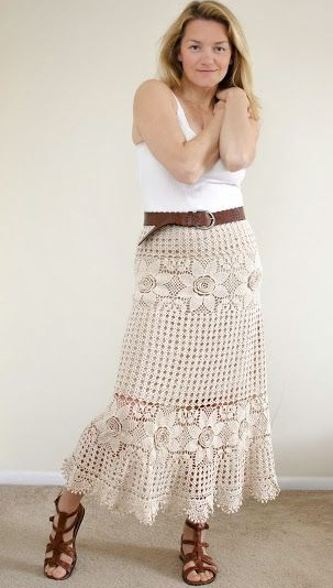 long skirt with tank top