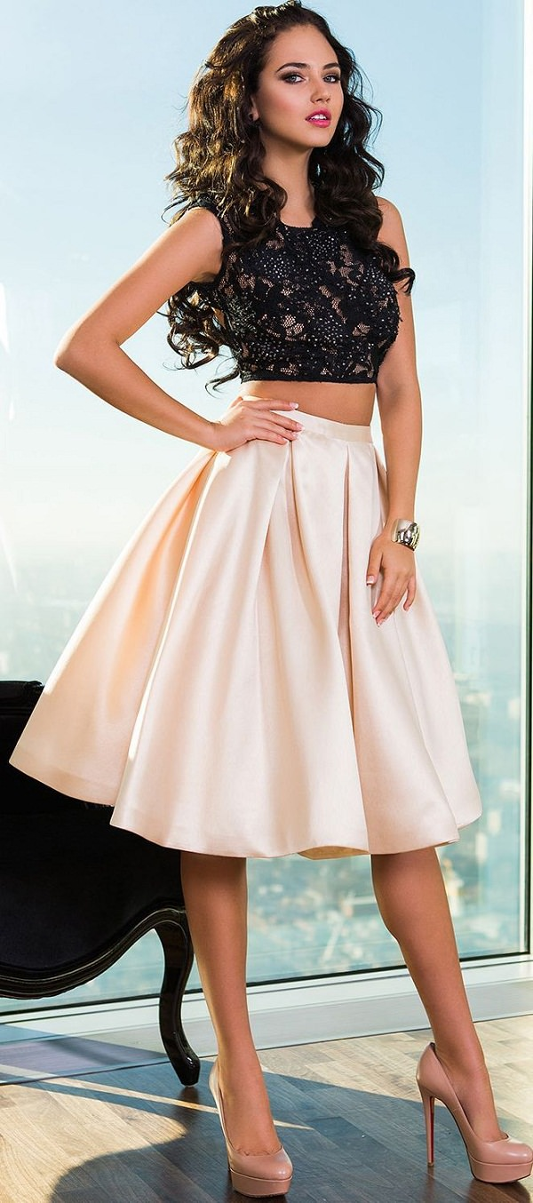 Formal Skirt And Top Combo - Dress Ala