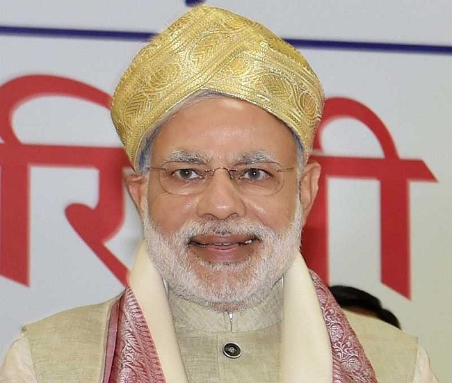 modi in golden turban