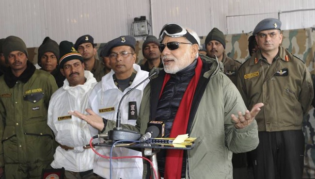 modi in gray jacket and sunglasses