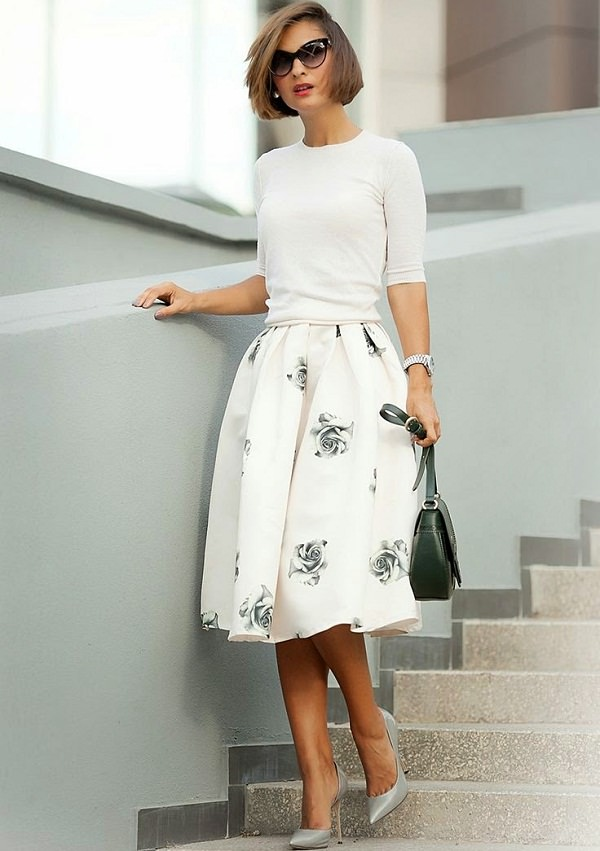 panel skirt with top