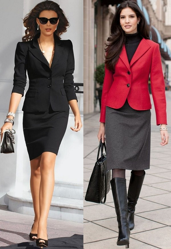 pencil skirt with blazer