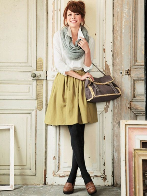 skirt with scarve