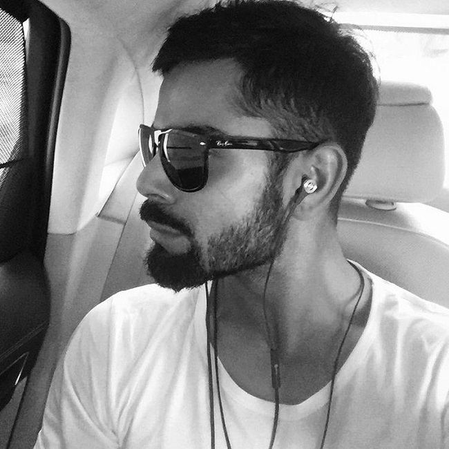 virat in the fashionable ray-ban