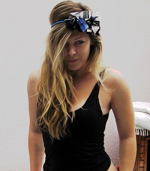 adorn your simple headband with flowers