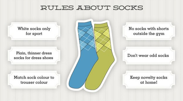 socks etiquette and basic rules for men