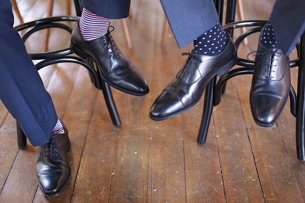 Dress socks for dress shoes and dress cloth