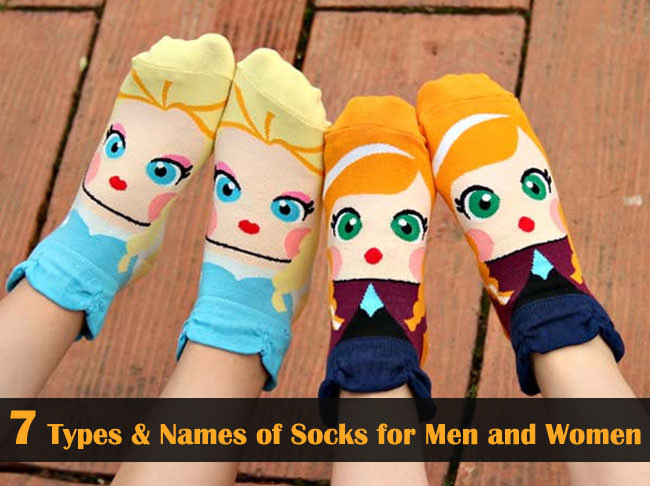 different types of socks with names