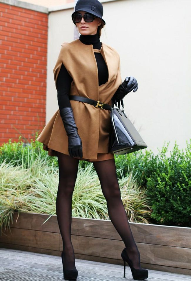 belt up the cape, how to wear a cape sweater