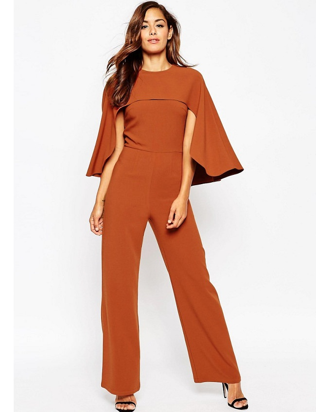 cape over jumpsuit