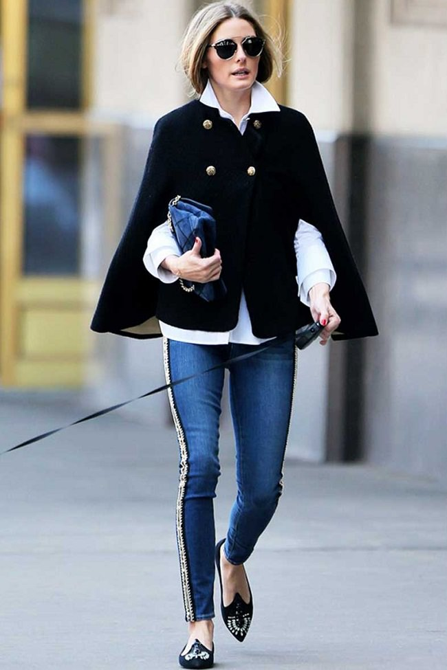 how to style capes with denim, Ideas on how to wear a cap and what to wear under a cap