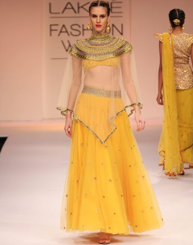 lehenga with cape