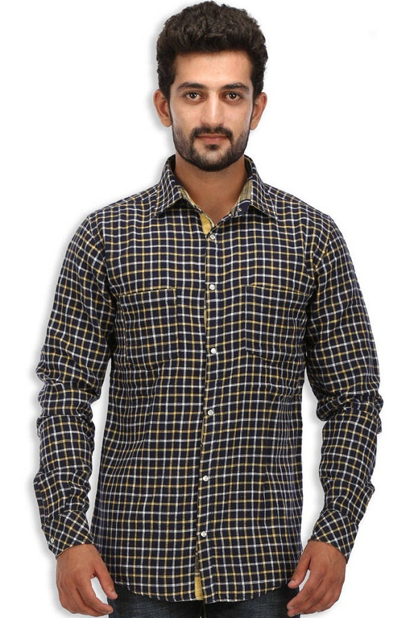 speak black checked reversible shirt