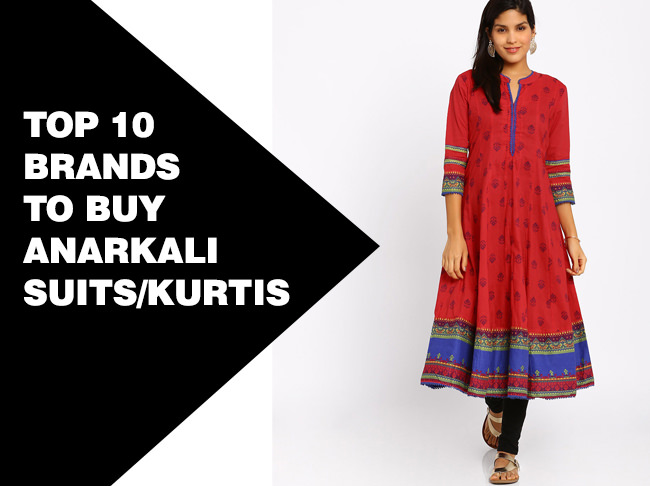 top 10 brands of anarkali
