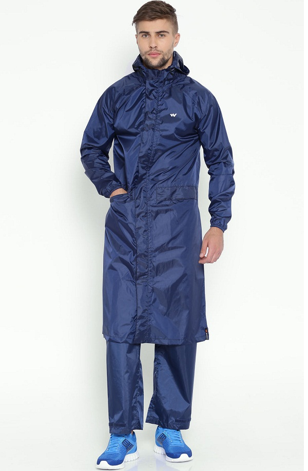 wildcraft navy blue hooded rainwear jacket, where to buy a good raincoat