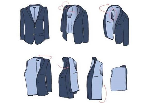 Pack suit jacket easily with minimal wrinkles