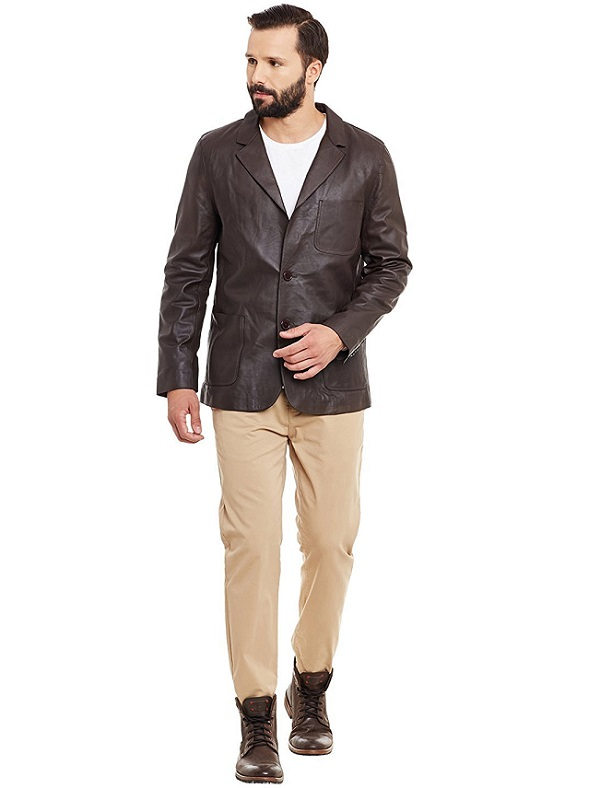 Tips To Get PartyWear Looks With This Leather Blazer