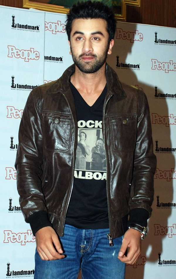 ranbir kapoor leather jacket