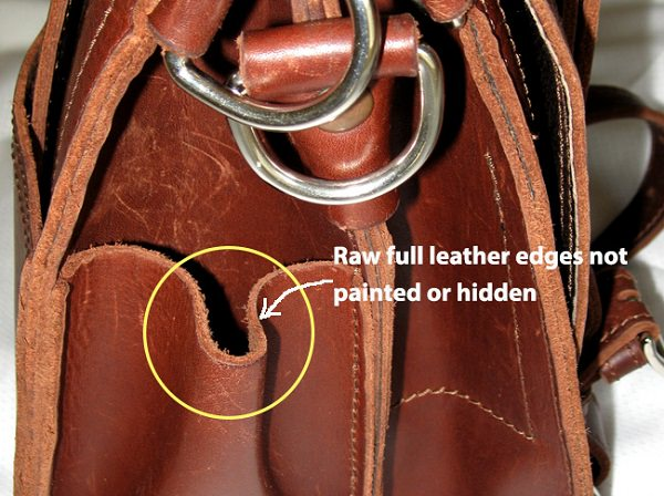 Rough Edges is the key feature of genuine Leather Bag