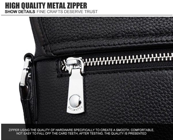 zip test to identify genuine leather purse for men