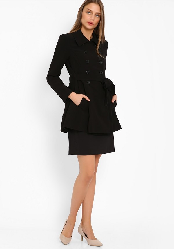 ultra feminine trench coat