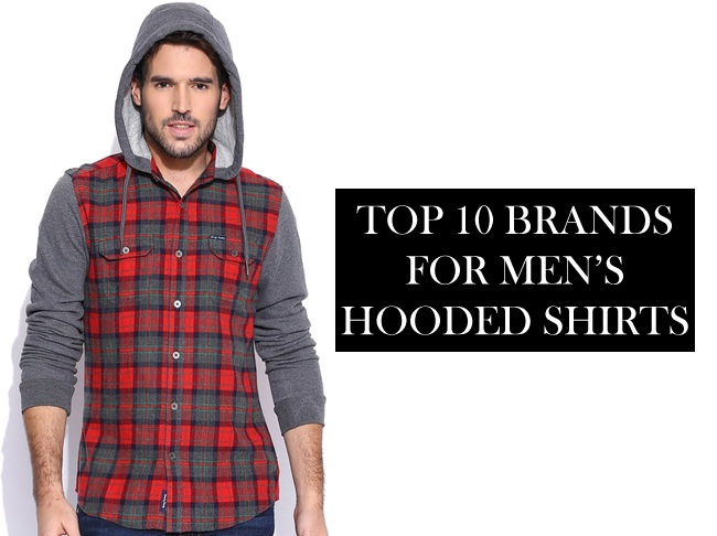 hooded shirts brands for men